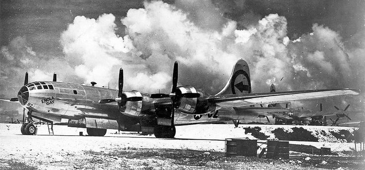 B-29 Superfortress - ENOLA GAY, on the Island of Tinian prior to it's attack of Hiroshima.