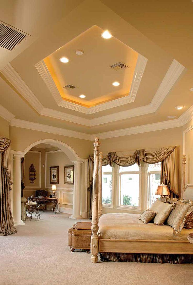 BedRoom.. Love the  ceilings!!: Dreams Bedrooms, Trays Ceilings, Bedrooms Design, Dreams House, Beds Room, High Ceilings, Master Bedrooms, Master Suits, Bedrooms Decor