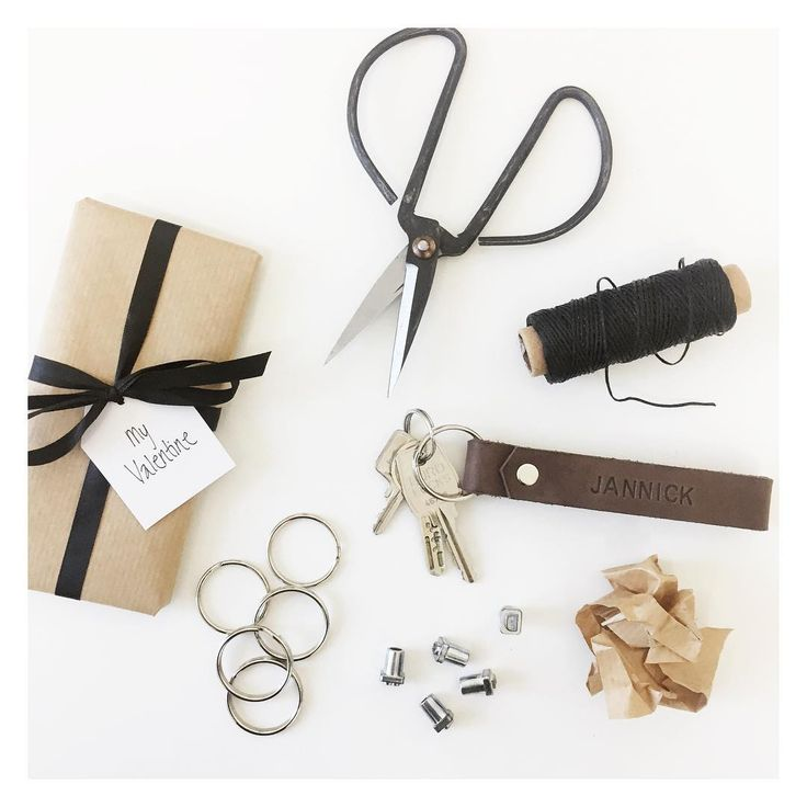 Leather keychain, DIY, Leathercraft, personalized gift. More on www.thejonico.dk
