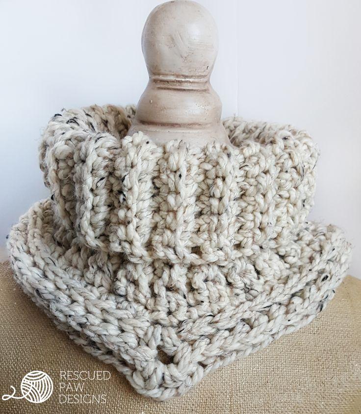 Cara Cowl Crochet Pattern in Spanish - CUELLO CARA – Patrón de crochet libre - Rescued Paw Designs