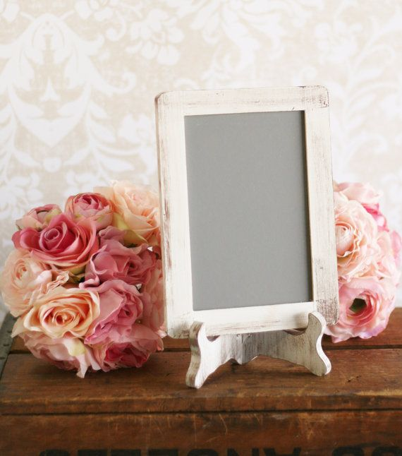 For sale is a chalkboard and matching easel set ~ a gorgeous sign for your upcoming shabby inspired wedding