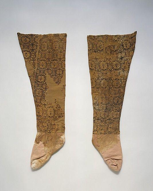 Leggings Date: ca. 8th century A.D. Geography: Caucasus region Medium: Silk, linen Dimensions: 31.5 in. (80.01 cm) Accession Number: 1996.78.2a, b The Metropolitan Museum of Art