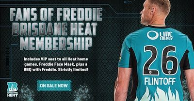 Twitter takeover with Freddy Flintoff for the Brisbane Heat BBL cricket team