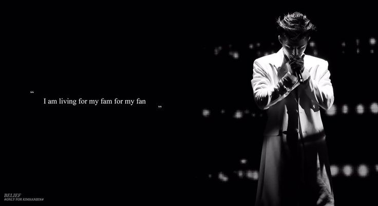 """Hanbin Wallpaper  """"I am living for my fam for my fan""""   i'm crying T_______T You make me proud  cr: BELIEF CHINA"""