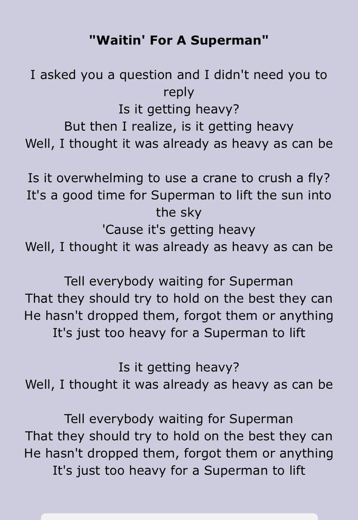 Lyric goldfinger superman lyrics : Más de 25 ideas increíbles sobre Song superman en Pinterest ...