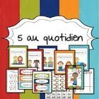 Voici tout ce qu'il vous faut pour mettre en place les 5 au quotidien dans votre classe.  Cet ensemble comprend 14 pages comprend des affiches, de numéros d'élèves, des signets, des feuilles de suivi de classe et individuel...