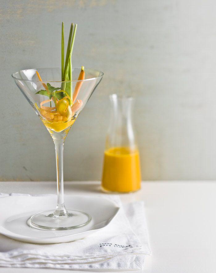 Feestelijke wortelcocktail van Niven Kunz