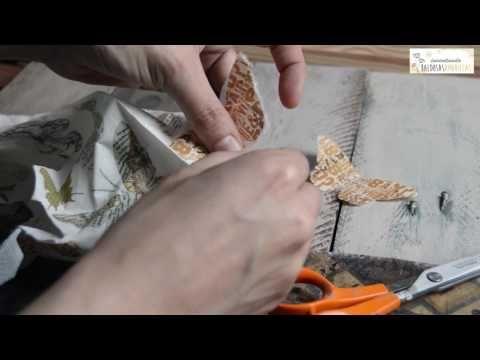 10 Trucos para mejorar tu decoupage o decoración con servilletas - YouTube