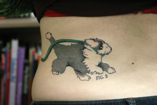 by Deanna Wardin on flickr #tattoo #dog #sheepdog