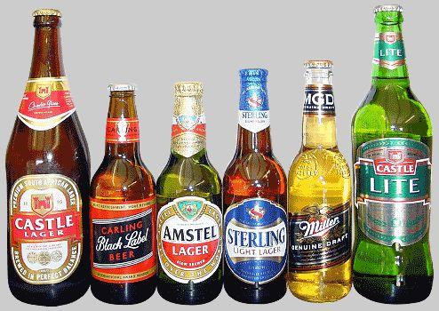 Local SA Beer bottles