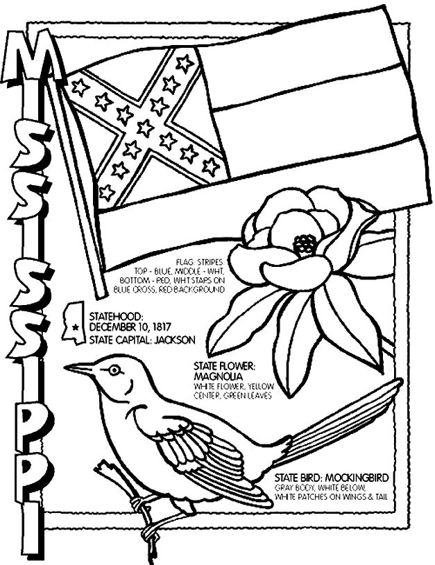 12 best Mississippi coloring pages images on Pinterest Mississippi - copy northern mockingbird coloring pages