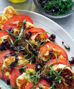 "Tomato and Halloumi Salad = ""Hangover Cure"" ... I shall try"