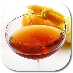Palmetto Cocktail :: 1.25 oz Aged Rum, 1.25 oz Sweet Vermouth, 2 dashes Orange Bitters. Stir with ice, strain into a chilled cocktail glass.  Garnish with a lemon or orange twist.