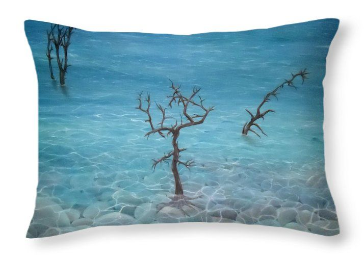 Throw Pillow,  home,accessories,sofa,couch,decor,cool,beautiful,fancy,unique,trendy,artistic,awesome,fahionable,unusual,gifts,presents,for,sale,design,ideas,blue,coastal,sea,trees,rocks,stones,pebbles