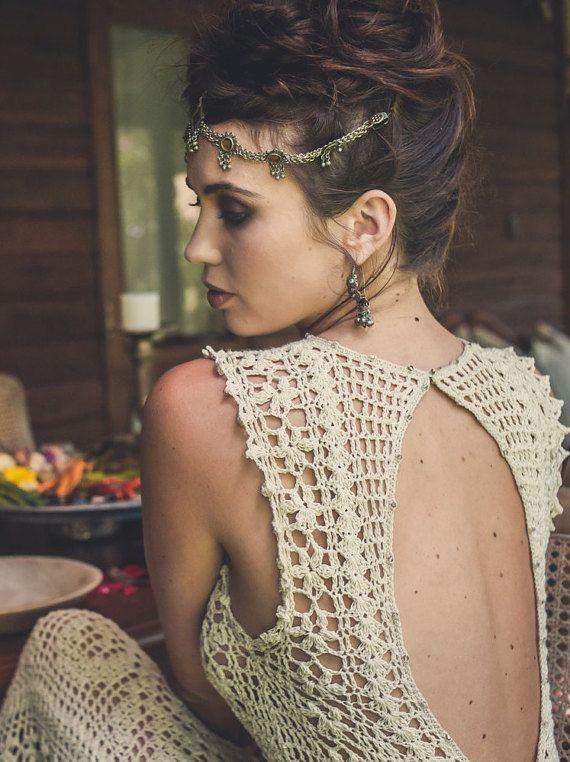 Vestido de Novia de ganchillo hecho a mano LUNA por IsaCatepillan