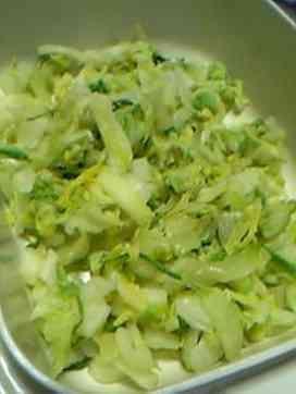 白菜サラダ (sliced steamed napa cabbage, tuna, corn, dashi, salt, toasted white sesame seeds, coconut sugar, kefir)