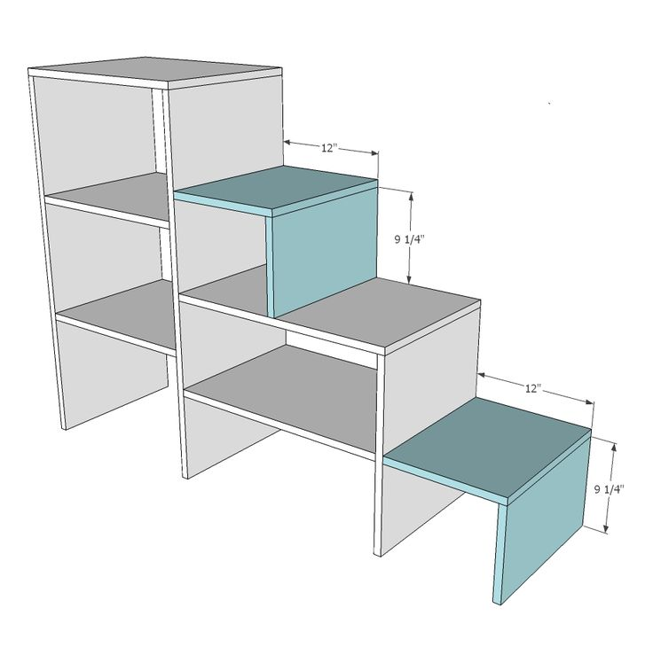 Ok, these are what we are making. Storage stairs. Ana White | Build a Sweet Pea Garden Bunk Bed Storage Stairs | Free and Easy DIY Project and Furniture Plans