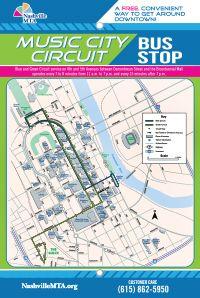 Nashville MTA Music City Circuit - Free bus service to key destinations in downtown Nashville
