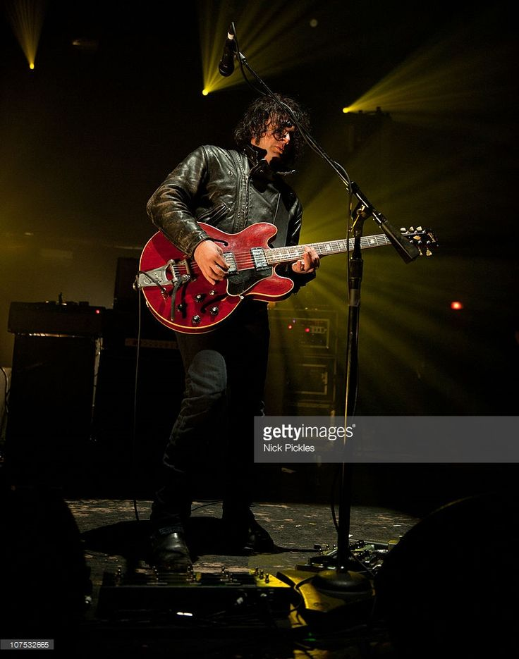 Peter Hayes of Black Rebel Motorcycle Club performs at Brixton Academy on December 11, 2010 in London, England.