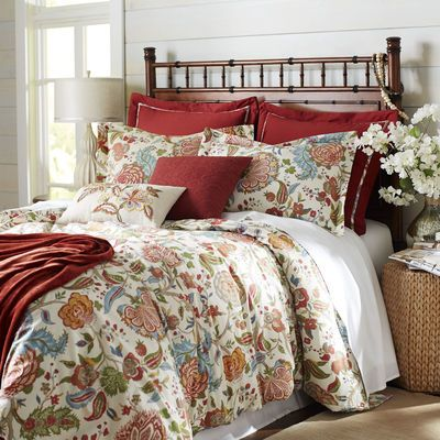 Welcome an angelic new tradition in bedding—Seraphina, a traditional palampore floral realized in 100% cotton. Fully machine washable, this floral/medallion motif is offered in a color palette that works year-round. The generously sized duvet cover features inside ties at all four corners to prevent the insert from shifting.