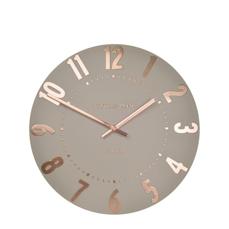 NEW - Thomas Kent Mulberry Rose Gold Wall Clock - 12inch – GingerInteriors.co.uk