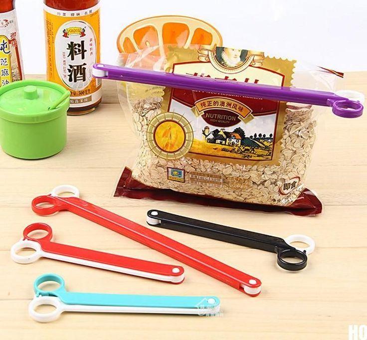 HOAU Kitchen Tool Storage Food Snack Seal Sealing Bag Clips Sealer Clamp Plastic