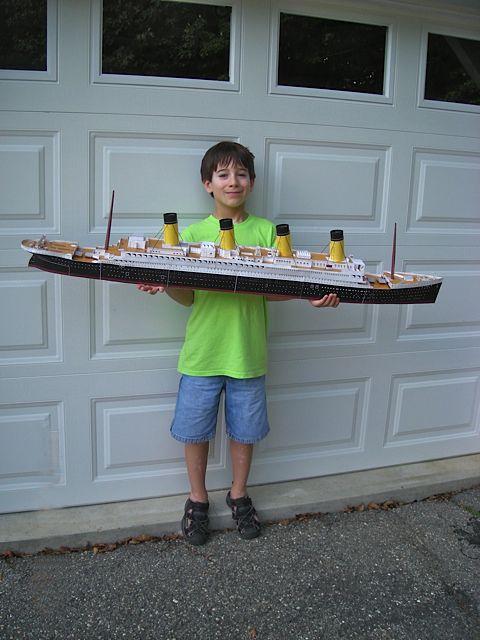 Matthew built his own Titanic © Richard C. Zoerb