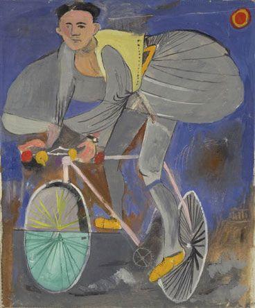 Γ. Τσαρούχης, Ποδηλάτης μεταμφιεσμένος σε τσολιά, 1936 (Ίδρυμα Γ. Τσαρούχη)