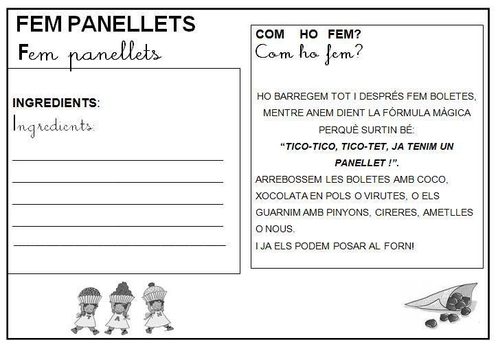 receta infantil panellets