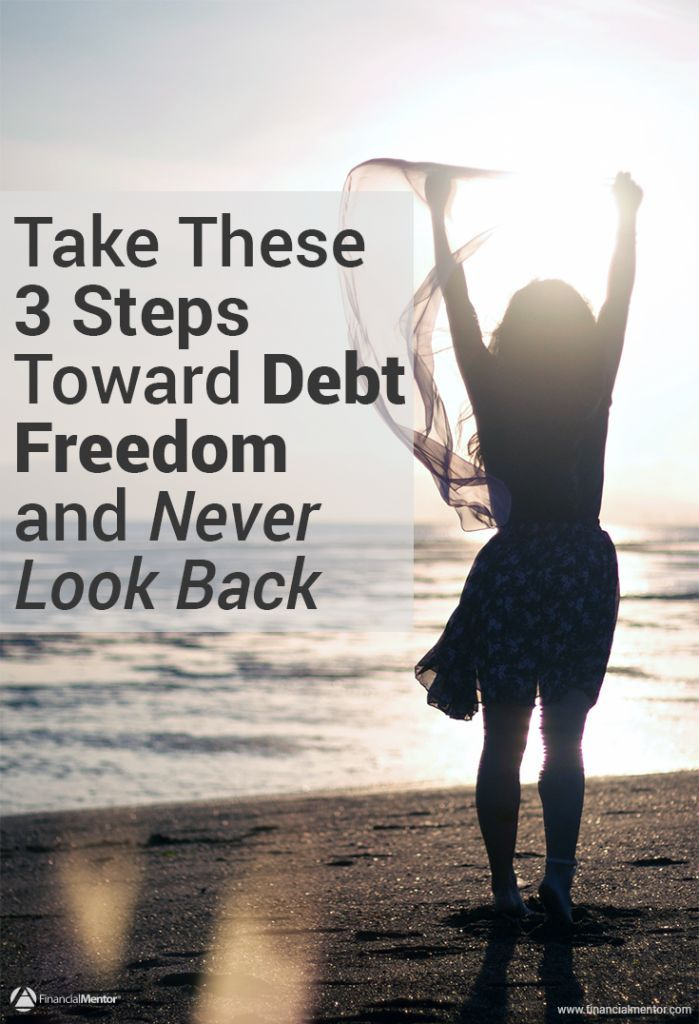 Struggling with debt? Feel overwhelmed about how to get out? Read this guide on becoming debt free in 3 steps. debt management, debt payoff #debt