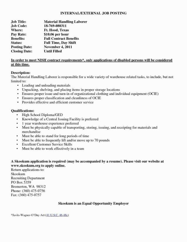 23 Cover Letter For Internal Position Job Application Valid