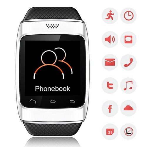 Bluetooth Touch Smart Watch Phone Sync Call SMS Music Weather For iPhone Android