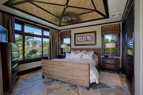 beach home master bedroom.