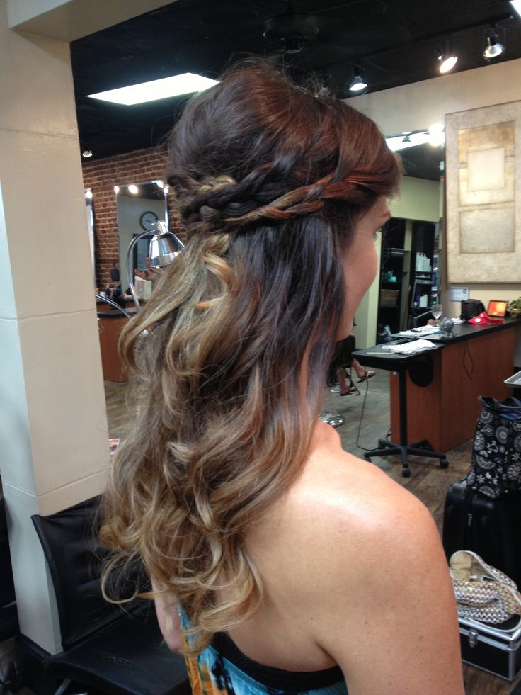 Bohemian But Elegant Bride Half Up Half Down Braids And