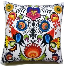 Wycinanki Folk Pillow