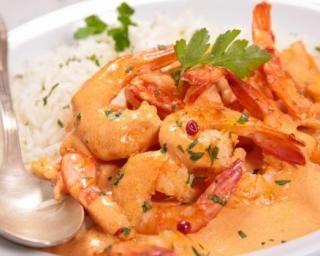 Curry de crevette douceur au lait de coco : http://www.fourchette-et-bikini.fr/recettes/recettes-minceur/curry-de-crevette-douceur-au-lait-de-coco.html