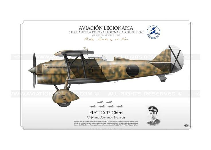 "FIAT Cr.32 ""Chirri"" AVIACIÓN LEGIONARIA KB-01"