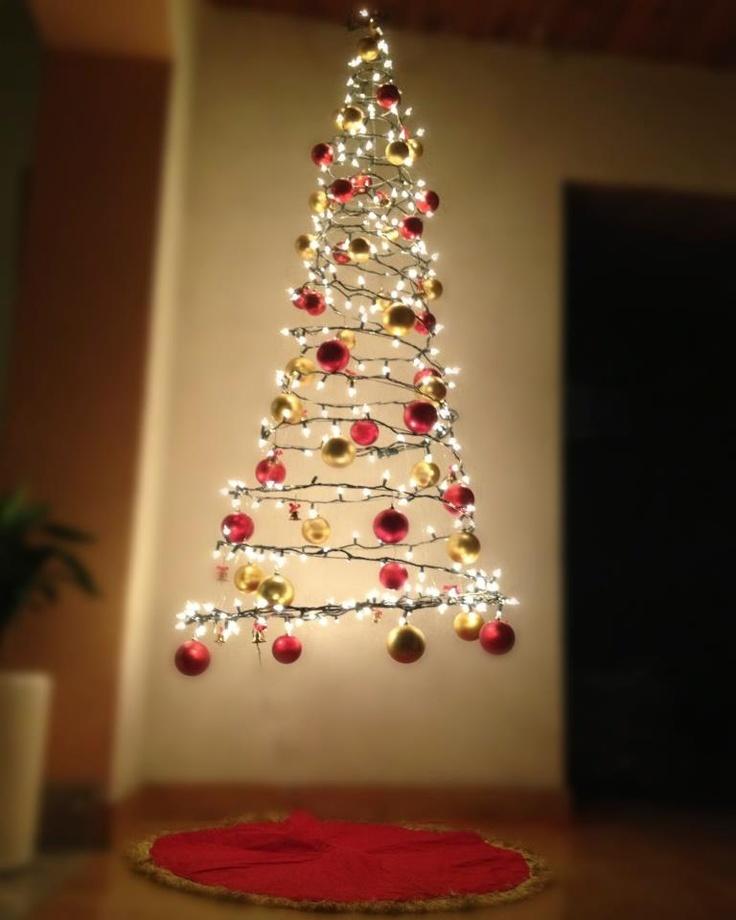 Arbol de navidad espiral de luz rboles de navidad - Arbol de navidad de alambre ...