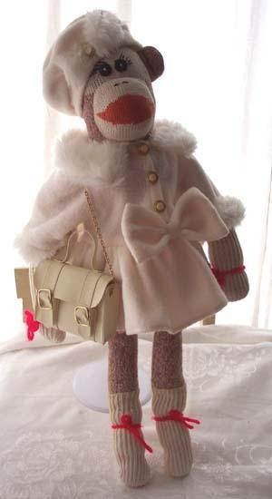 Fancy sock monkey lady...