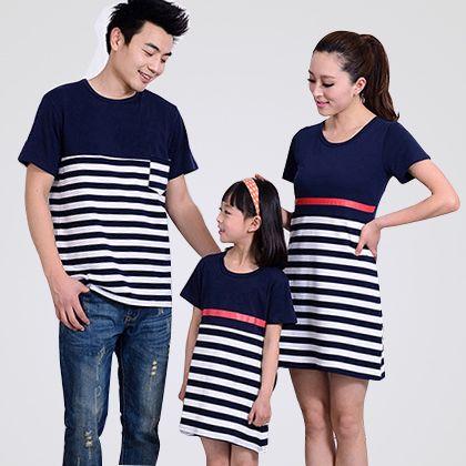 Conjunto de la familia, juego de madre e hija ropa del verano vestidos largos vestido maxi padre T-Shirt madre e hija vestido de ropa(China (Mainland))