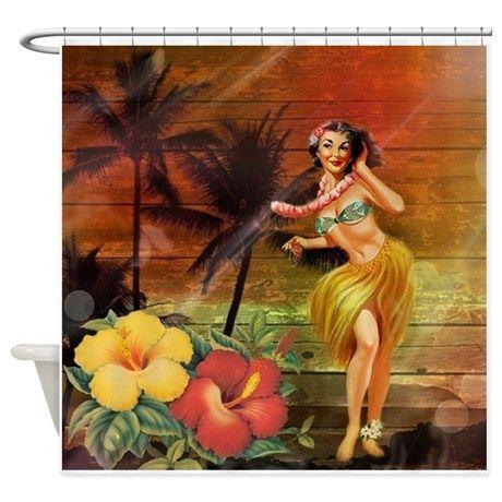 passion flower hawaii hula dancer Shower Curtain on CafePress.com