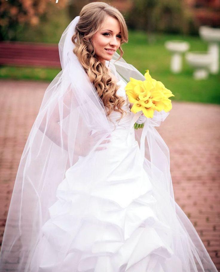 nice Трендовые свадебные прически на средние волосы с фатой (50 фото) — Мода 2017
