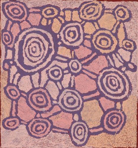 Johnny Yungut Tjupurrula, Untitled, acrylic on linen, 2012, 61 X 55 cm. Papunya Tula Artists, Alice Springs. 2.75K