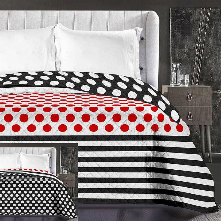 Vzorovaný obojstranný prehoz na manželskú posteľ