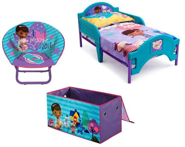cute doc mcstuffins bedroom decoration  toddler bed doc