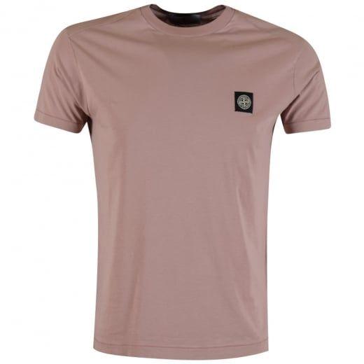 STONE ISLAND Pink Compass Logo T-Shirt