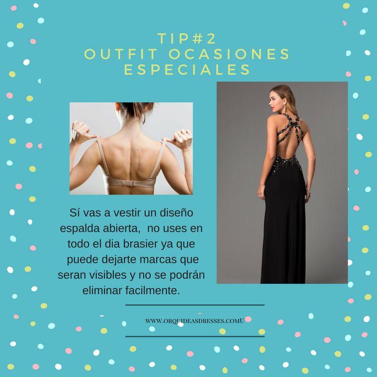 Tip #3 , Cuando uses un vestido de espalda abierta, no uses brasier previamente a la fiesta, ya que te puede dejar marcas.  Mas informacion al WhatsApp +57 3202215550