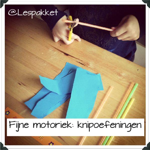 Fijne motoriek - knipoefeningen - Lespakket