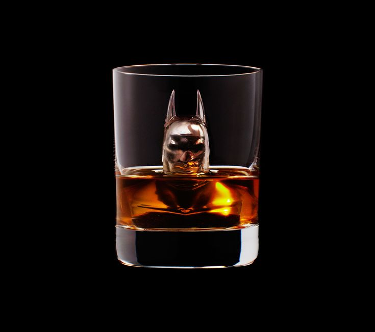 """So I can say, """"I'm Batman,"""" while I drink it.  Suntory Whisky 3-D Printed the World's Most Incredible Ice Cubes 