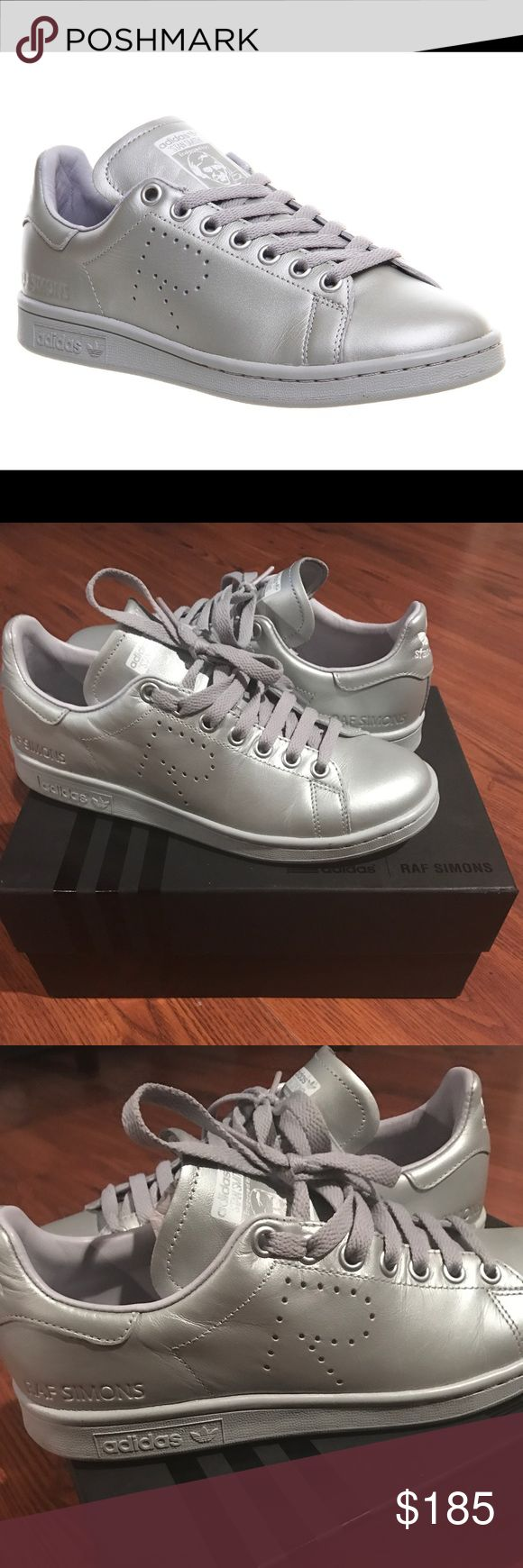 Raf Simons Adidas Stan Smith 100% authentic raf simons just in time for the summer. At more than half off you can't let this go. Pristine condition only worn twice. Send offers! Size 6 in men but will fit a size 8 women's Raf Simons Shoes Sneakers